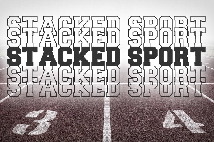 Stacked Sport Font example image 1