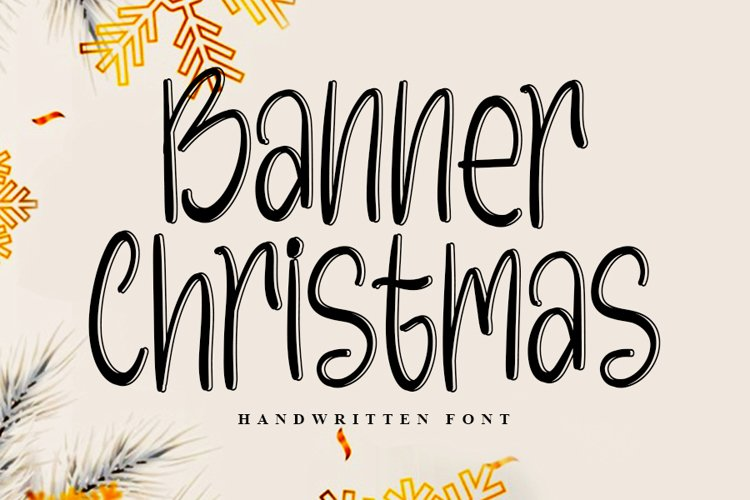 Banner Christmas | Beautiful Handwritten Font example image 1
