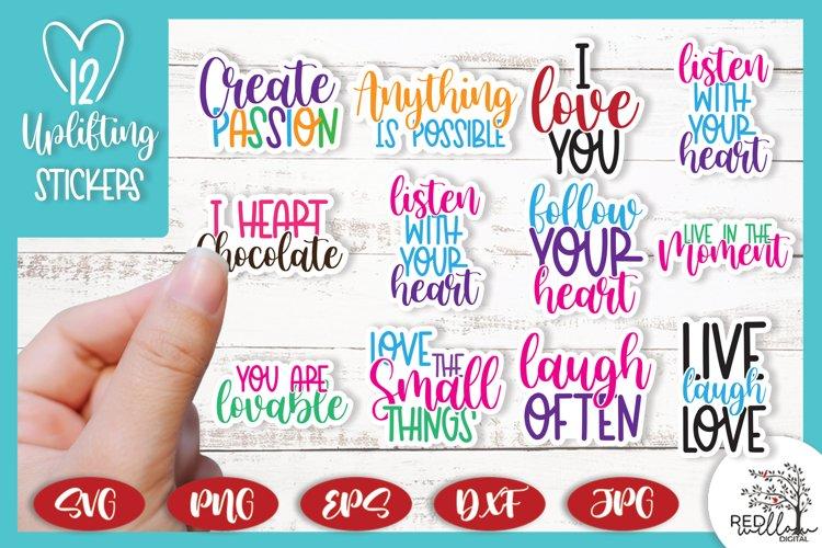 Positivity Stickers, Planner Stickers, Sticker Sheet