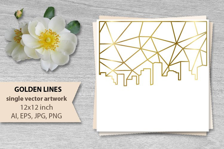 GOLDEN LINES SKY- single vector artwork example image 1