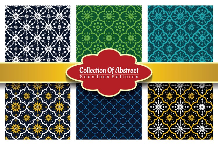 6 Collection Of Abstract Seamless Pattern Vol.3 example image 1