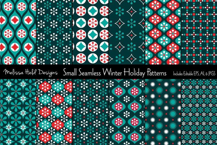 Small Seamless Holiday Patterns