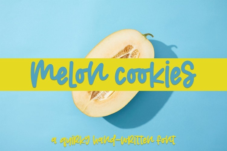 Web Font Melon Cookies - A Quirky Hand-Written Font example image 1