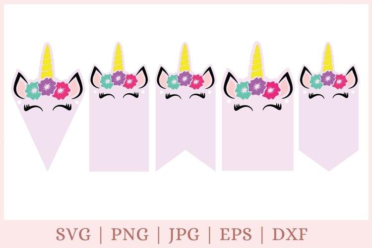 unicorn svg, banner svg, birthday banner svg, birthday svg example image 1