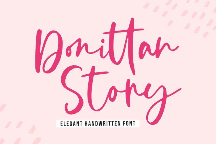 Elegant Handwritten - Donittan Story example image 1