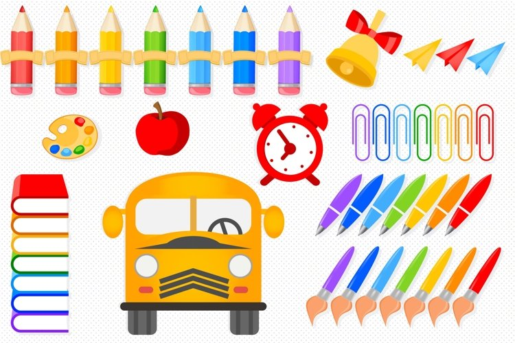 Back to school illustrations, Back to school graphics example image 1