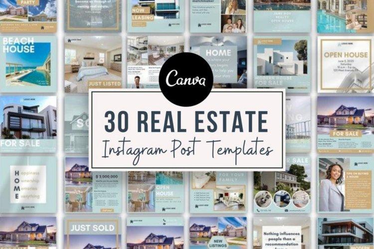 Real Estate Agent Instagram Post Templates , Canva, Realtors