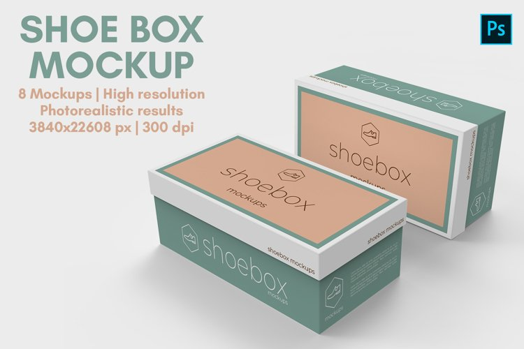 Shoe Box Mockup - 8 Views example image 1