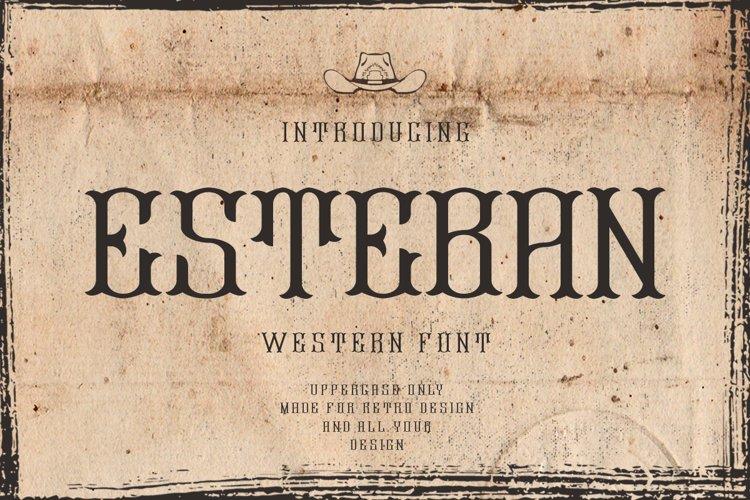 Esteban | Western Font example image 1
