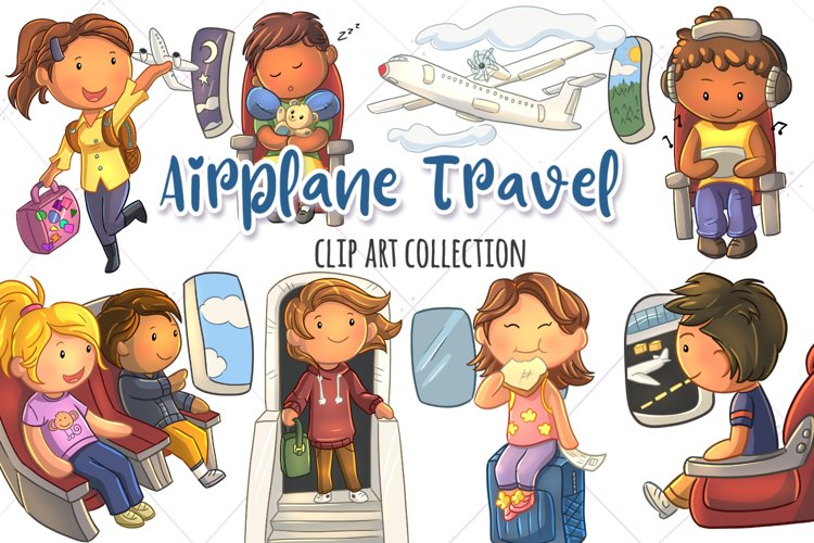 Airplane Travel Clip Art Collection example image 1