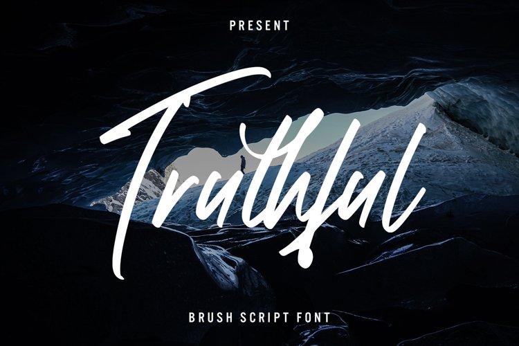 Truthful - Brush Script Font example image 1