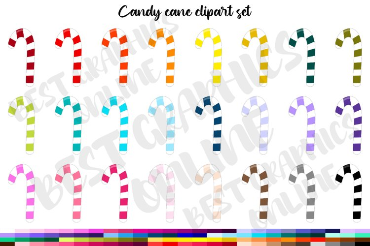 100 Christmas sweets candy cane clipart set, Christmas candy example image 1