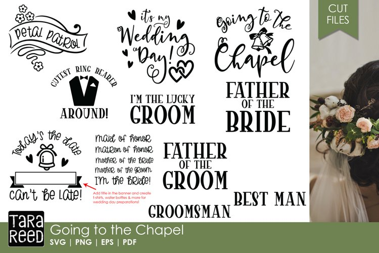 Going to the Chapel - Wedding SVG & Cut Files