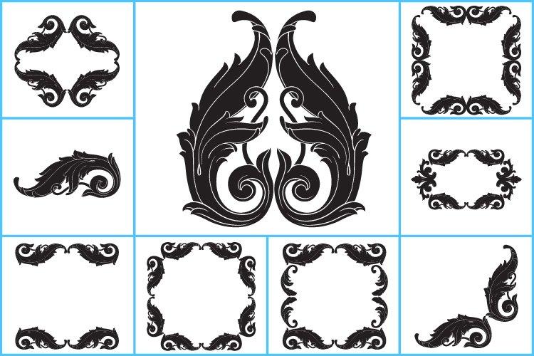 Ornament clipart, ornament svg, flower svg frame monogram.