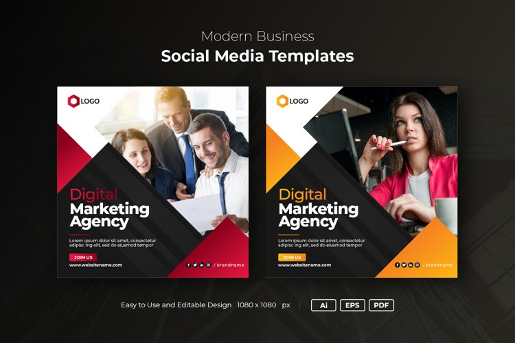Instagram Post Banner, Business Social Media Banner template example image 1