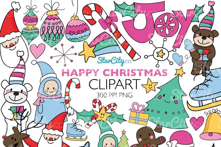 Hand Drawn Christmas Clip art graphics