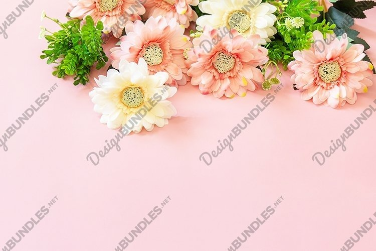 Mothers day or birthday greeting card. Festive flower.