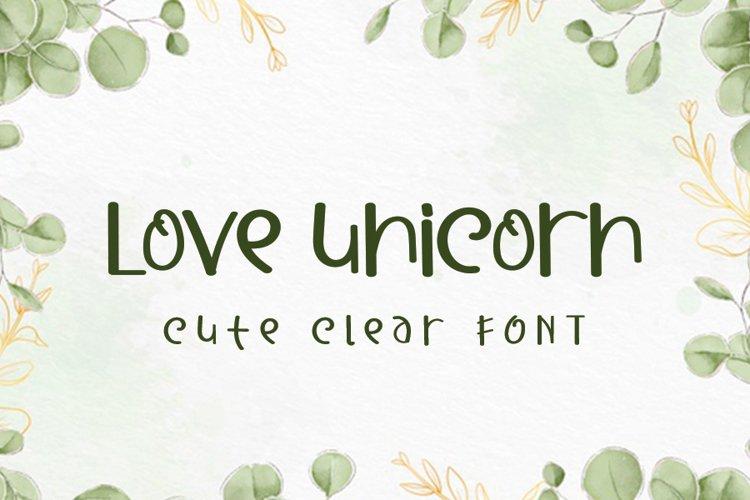 Love Unicorn example image 1