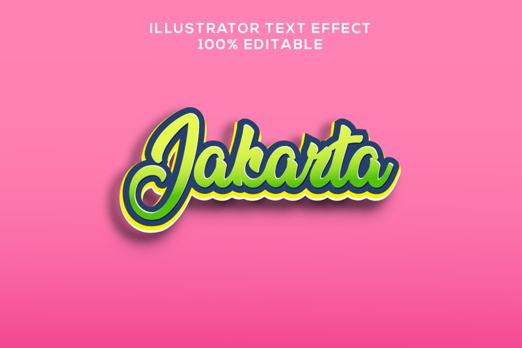jakarta text effect logo banner vector example image 1
