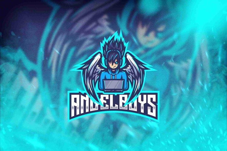 Angel Boys Esport Logo Template example image 1