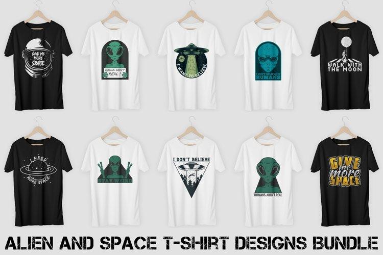 Alien and Space T-Shirt Designs Bundle Vol. 1