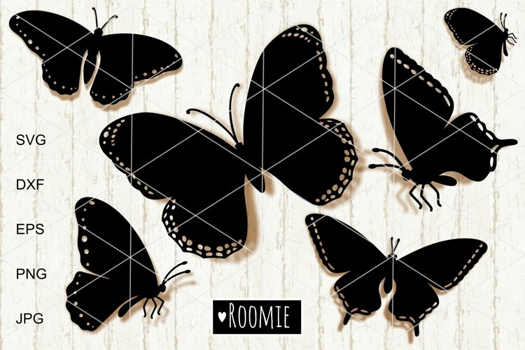 Butterfly SVG, Butterflies vector clipart Cut files papercut