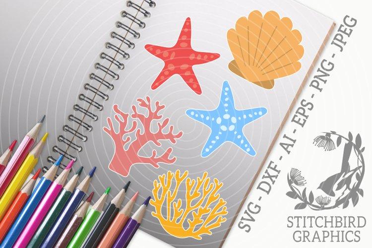 Reef Bundle SVG, Silhouette Studio, Cricut, Eps, JPEG, PNG example image 1
