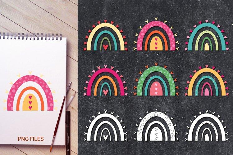 Rainbow love - Valentine Illustrations