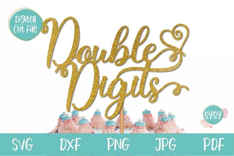 Download 10th Birthday Svg Double Digits Cake Topper Svg 1186285 Cut Files Design Bundles