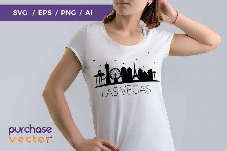 SVG- Las Vegas Skyline Cut file