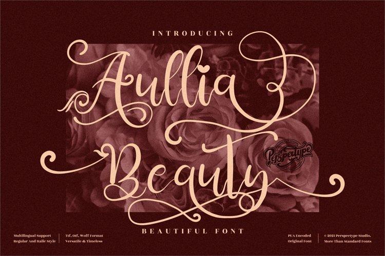 Aullia Beauty - Beautiful Script Font