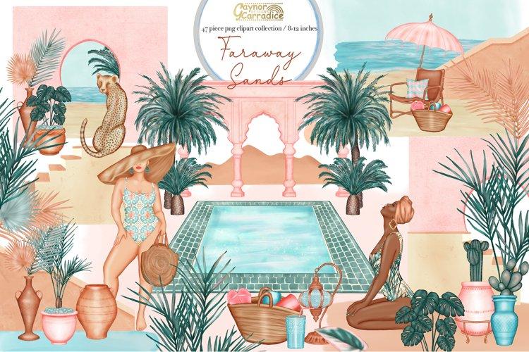 Faraway sands - Modern abstract - boho summer clipart