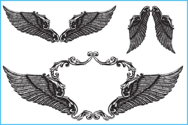 Angel wings svg, Wings svg, Wings clipart, Wings frame split