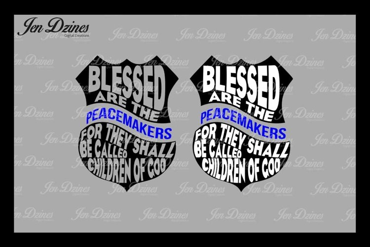 Blessed are the Peacemakers Badge SVG DXF EPS PNG example image 1