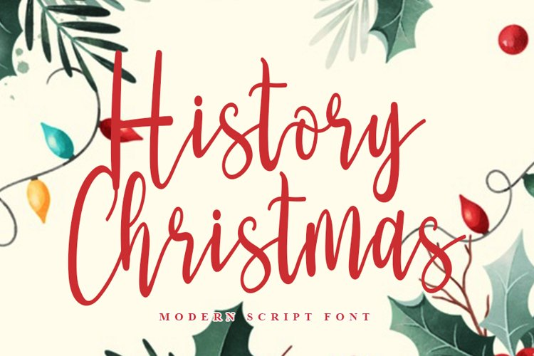 History Christmas | Modern Script Font example image 1