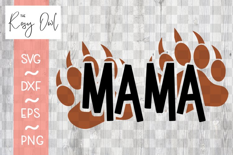 Mama/Bear Paws SVG PNG DXF EPS example image 1