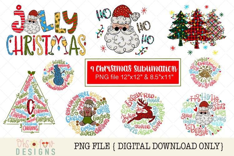 Christmas sublimation bundle, PNG file, ho ho ho santa