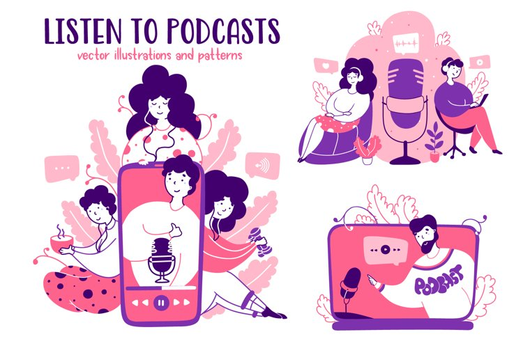 Podcasts - Cartoon Illustrations example image 1