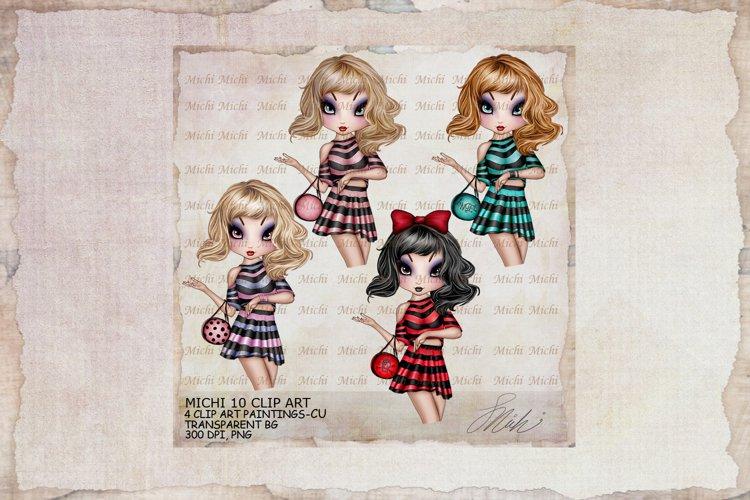 Michi 10 Cute Classy Girl Clip Art