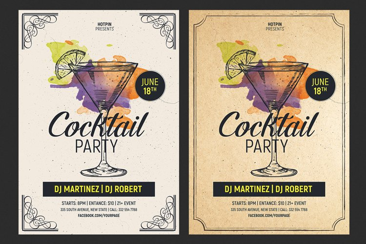 Cocktail Party Flyer Template example image 1