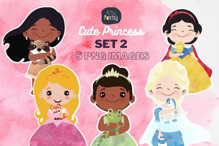 Cute Princess Clip art Set 2 example image 1