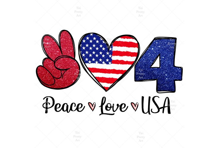 Peace Love USA Bundle PNG, Patriotic Bundle