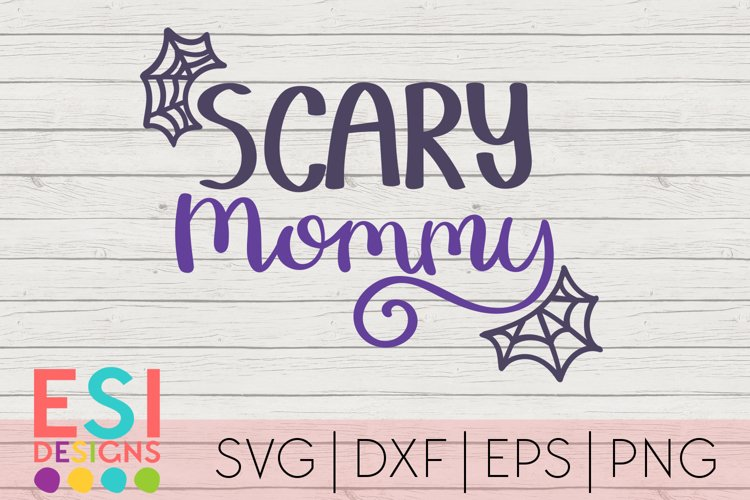 Halloween SVG | Scary Mommy Spider Web Design example image 1