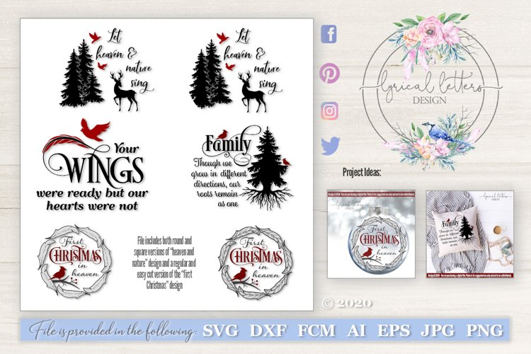 Christmas SVG Bundle with Cardinals SVG DXF LL263