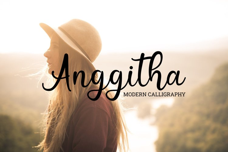 Anggitha modern calligraphy example image 1