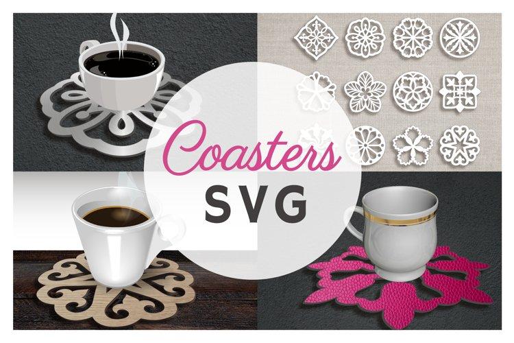 12 Coaster Set SVG Files For Cricut Handmade Coaster Flower