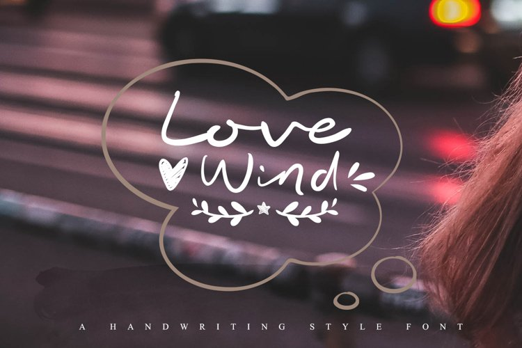 Love Wind font example image 1