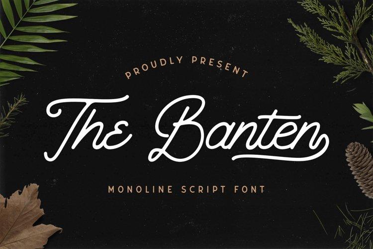 The Banten - Monoline Script Font example image 1
