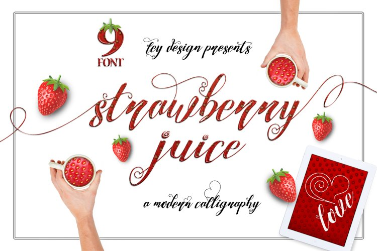 Strawberry Family - Free Font of The Week Font