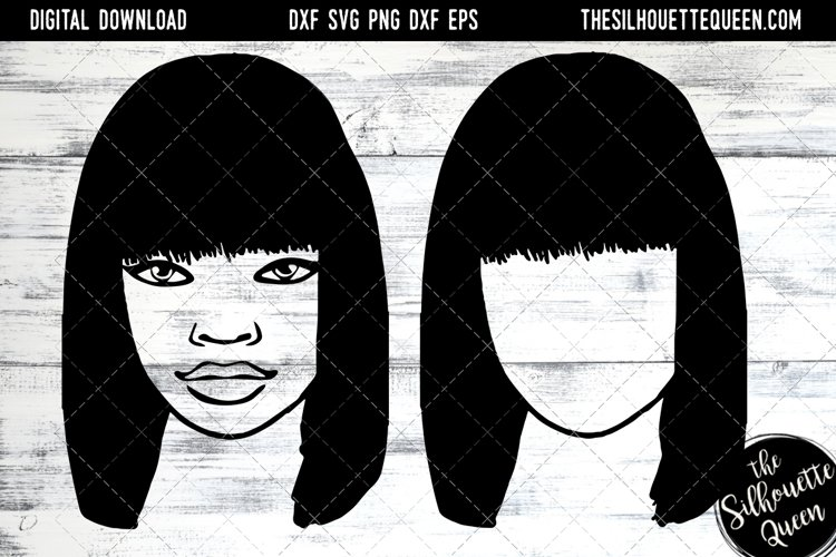 Afro Hair - Straight Bob Full Bangs example image 1